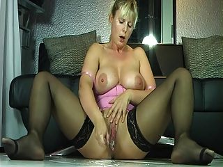 Busty Milf In Stockings Wet Squirt Orgasm