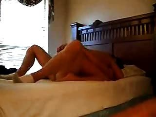 Petite Blonde Girl Rammed With Her Legs In The Air