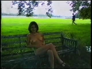 Sexy British Lady Outdoors
