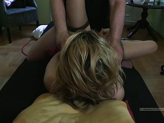 Blonde Cuffed Fucked By Stranger