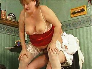Granny In White Stockings