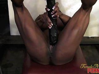 Yvette Bova - Her Big Black Dildo