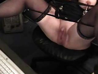 Horny Grandma With Huge Clit Has Fun At Computer