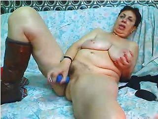 Huge And Saggy Gran On Cam