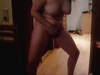 Mature Wife Masturbating Standing. Home Made Video