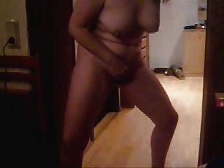 Mature Wife Masturbating Standing. Home Made Video