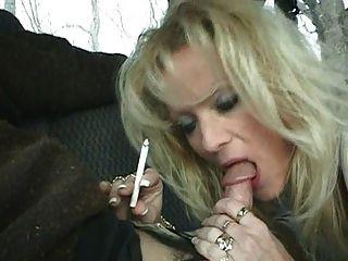 Hot Blonde Milf Staci Smoking Bj