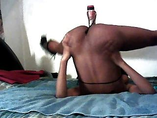 Me Fuckin My 9in Dildo Upside Down With No Hands