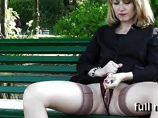Naomi1 Masturbates In A Public Park