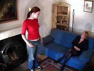 Lesbian Spanking