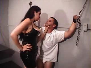 Mistress Victoria Brutalizes Slave