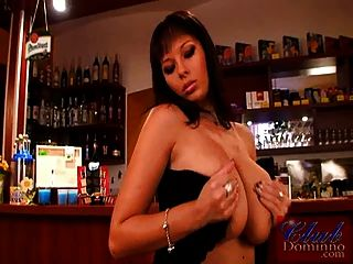 Busty Dominno As Sexy Bartender