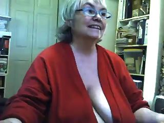 Fat Saggy Granny Strips And Masturbates On Webcam