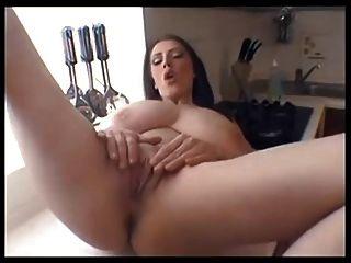 Big Tits Milf Masturbates On Kitchen Counter