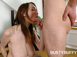Big-boobed Teen Buffy Fucks For Cum On Her Massive Melons