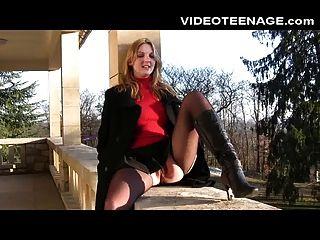 Blonde Girl Upskirt