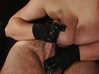 Sloppy handjob cumshot