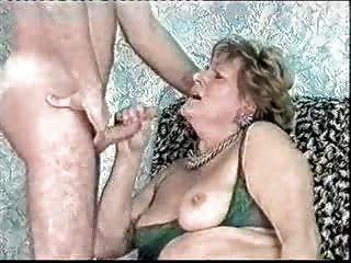 Great Facial On Old Lady. Amateur