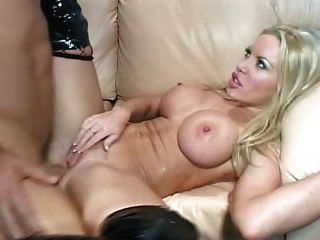 Big Boobed Blonde Gets Her Ass Stretched - Dap