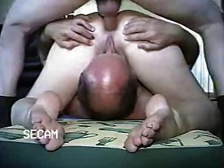 Arab anal threesome