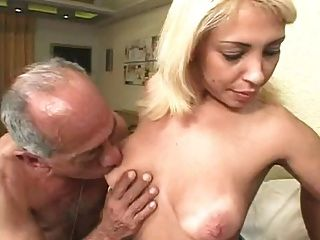 Ugly Old Men Fuck A Blonde
