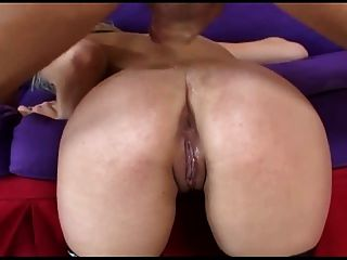 Blonde Has Kinky Anal Sex In Fishnet Stockings