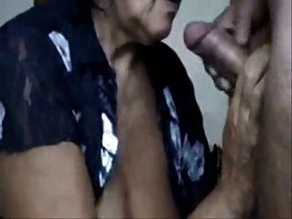 Naughty Mom Drinking Cum