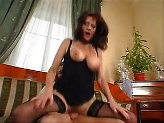 Mature Busty Hairy Brunette Fuck