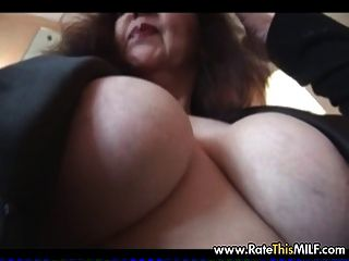 Older Mature Milf In Vintage Stocking With Shaved Pussy