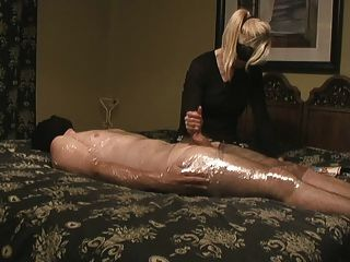 Handjob By A Taped Man, While Reading A Newspaper.