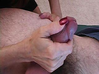 Janet Strokes Cock