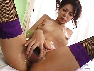 Slender Japanese Gets Filled With Cum