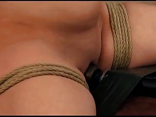 Tied Up To The Chair With Big Vibrator
