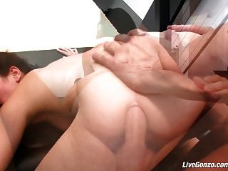 Livegonzo Bobbi Starr Hot Brunette Does Anal For Fun