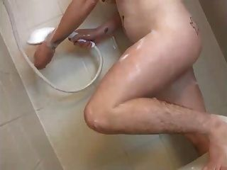 Babe Masterbating Her Hairy Pussy,hairy Pits, Nice Nipples