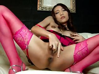 Awesome Japanese Babe Ibuki Plays With Her Pussy