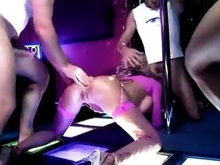 Big Fake Boobs Slut Gangbang