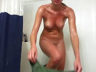 Self-shot Shower Masturbation