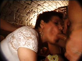 French Mature N27 Brunette Anal Mom Gangbang In Club