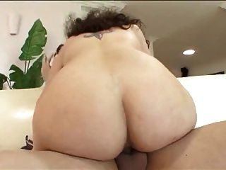 Nerdy Bbw With Glasses And Big Tits Fucks On Couch