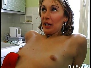 Amateur French Couple In 3some Anal Fucking With Papy Voyeur