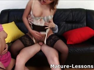 Anal Sex Lesson From Old Slut For Young Couple.