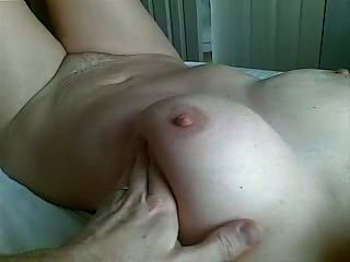 Handjob And Cumming On Wifes Hand.