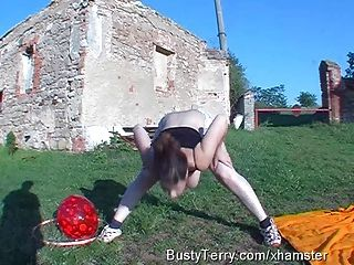 Busty Terry Gym Time, Jumping, Jigging, Bouncing