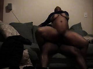 Big Breast Ebony Slams Dick To Quick Orgasm
