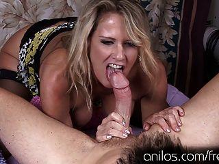 Hot Cougar Seduces Young Stud