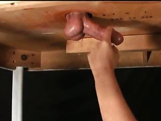Tied post orgasm handjob funny technique 10