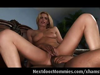 Cougar Secretary Swallows Black Cock Cum