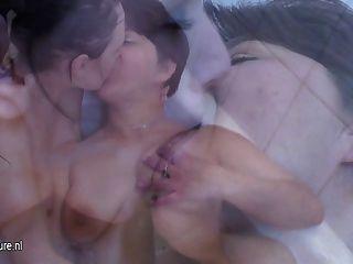 Hot Girl Fucks A Naughty Mature Lesbian