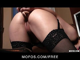 Mofos - Sexy Dani Daniels Shows Off Her Stockings